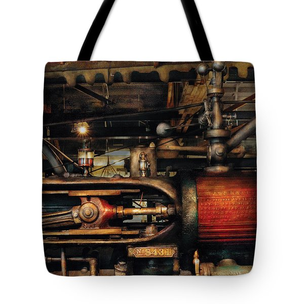 Steampunk - No 8431 Tote Bag by Mike Savad