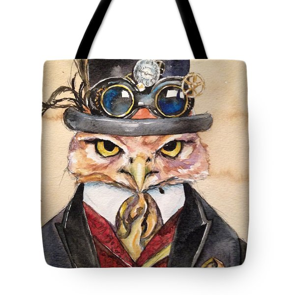 Steampunk Owl Mayor Tote Bag