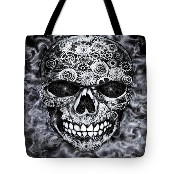 Steampunk Skull Tote Bag