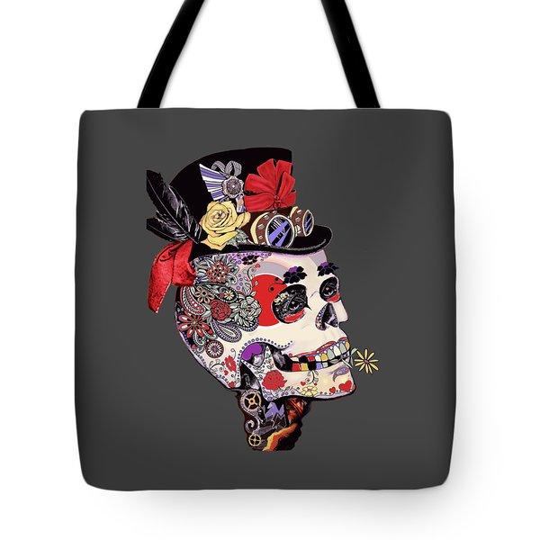 Steampunk Sugar Skull  Tote Bag