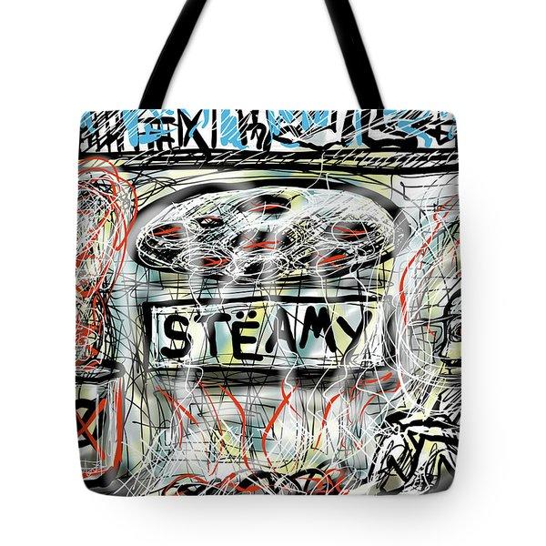 Tote Bag featuring the digital art Steamy by Joe Bloch