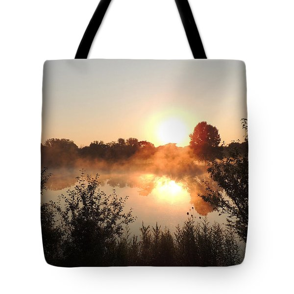 Steamy Morning Tote Bag