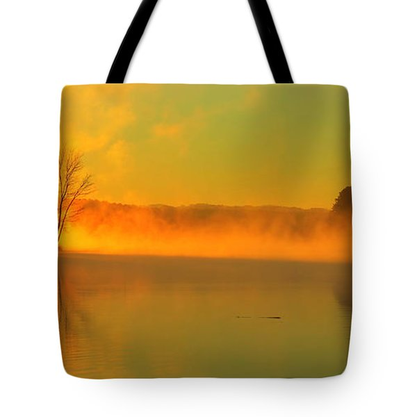 Tote Bag featuring the photograph Steamy Sunrise by Kathleen Illes