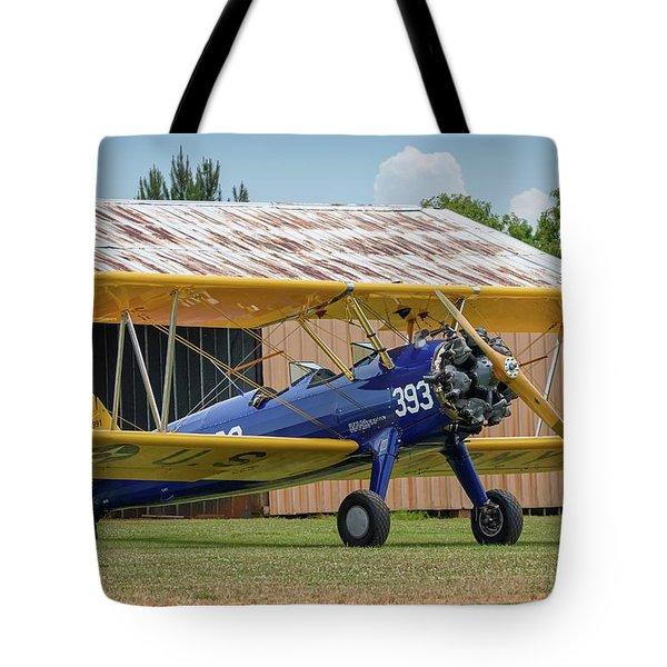 Stearman And Old Hangar Tote Bag