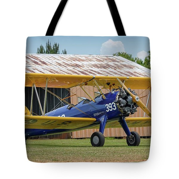 Stearman And Old Hangar Tote Bag