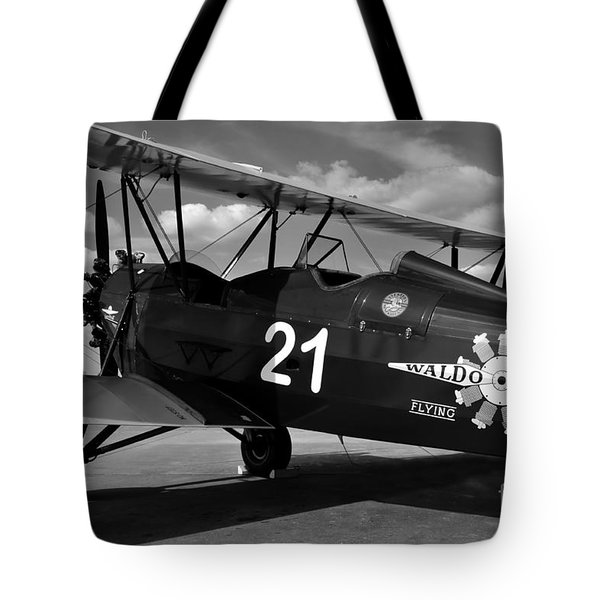 Stearman Biplane Tote Bag by David Lee Thompson