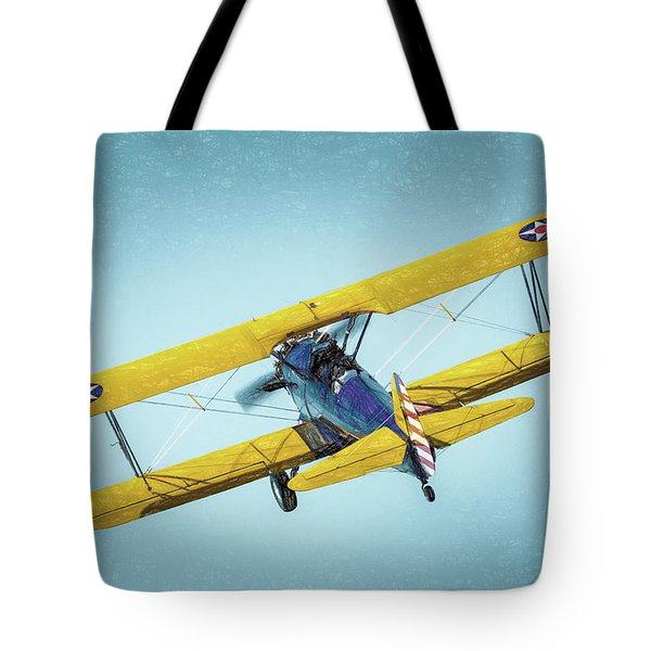 Tote Bag featuring the photograph Stearman by James Barber