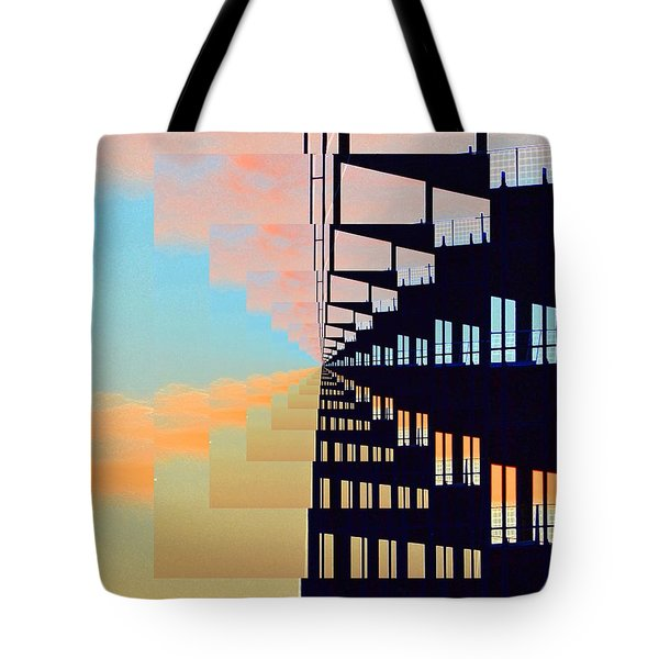 Steel And Clouds At Sunset 7  Tote Bag by Lyle Crump