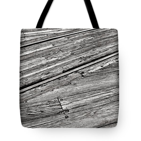 Steel And Wood Tote Bag