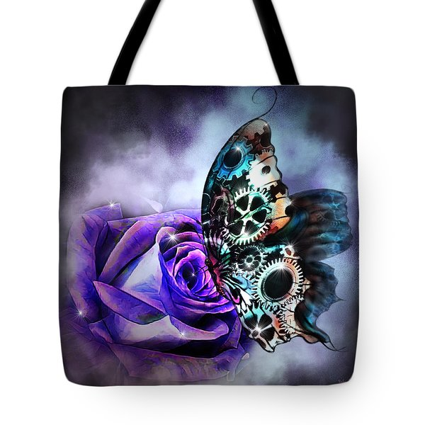 Steel Butterfly Tote Bag
