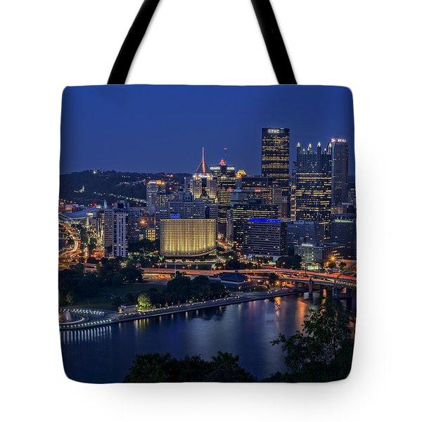 Steel City Glow Tote Bag
