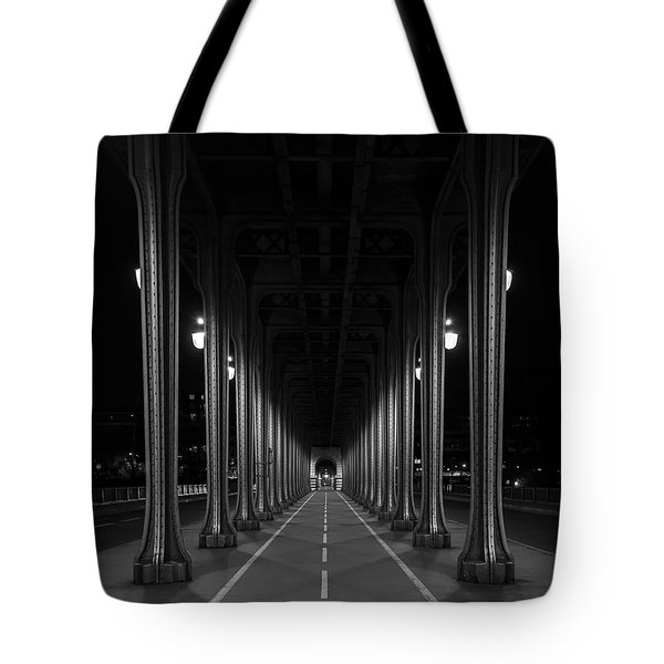 Tote Bag featuring the photograph Steel Colonnades In The Night by Denis Rouleau