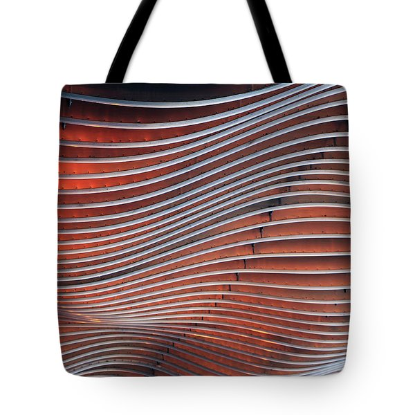 Steel Ribbons Tote Bag