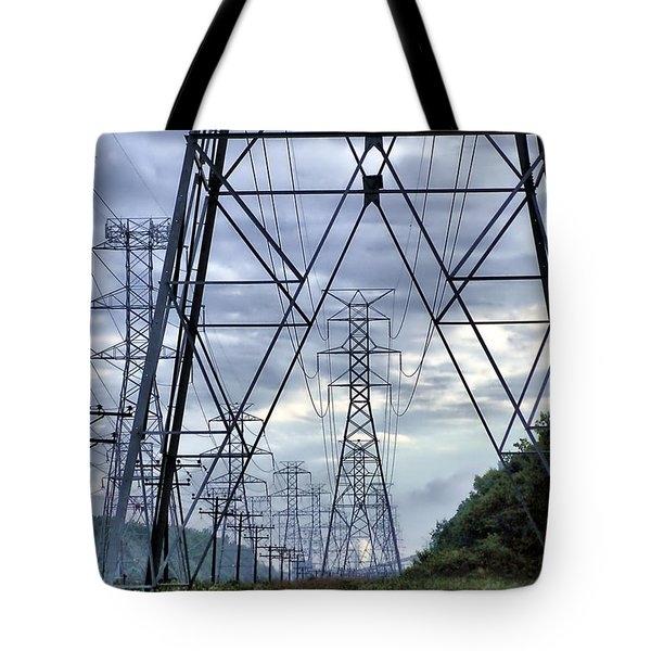 Tote Bag featuring the photograph Steel Soldiers Marching To The Sea by Brian Wallace