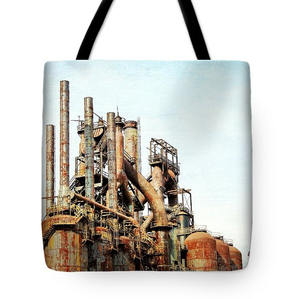 Steel Stack Blast Furnaces Tote Bag