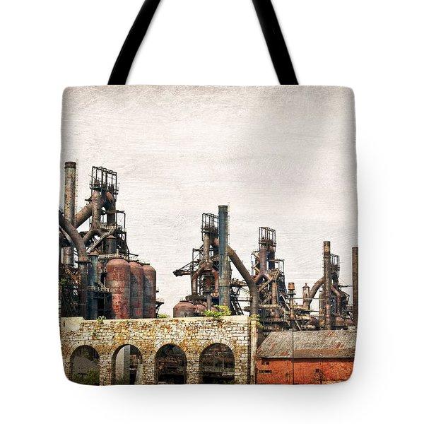 Steel Stacks  Tote Bag