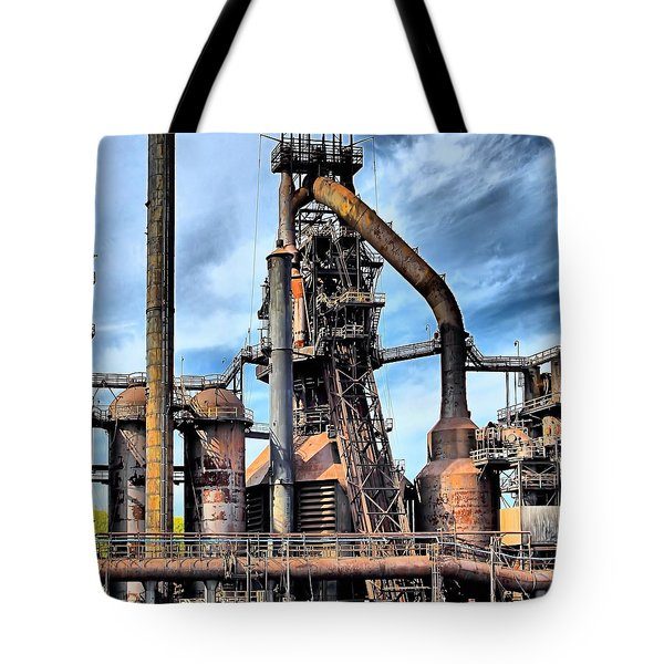 Steel Stacks Bethlehem Pa. Tote Bag