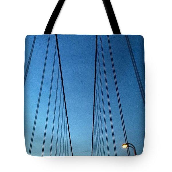 Golden Gate Bridge Cables Tote Bag