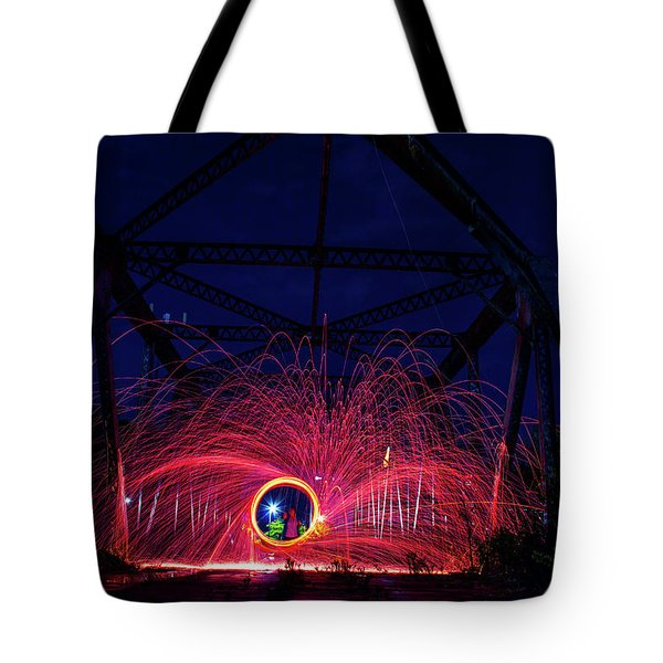 Steel Wool Spinner Tote Bag