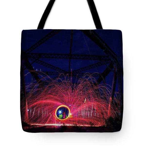 Steel Wool Spinner Tote Bag