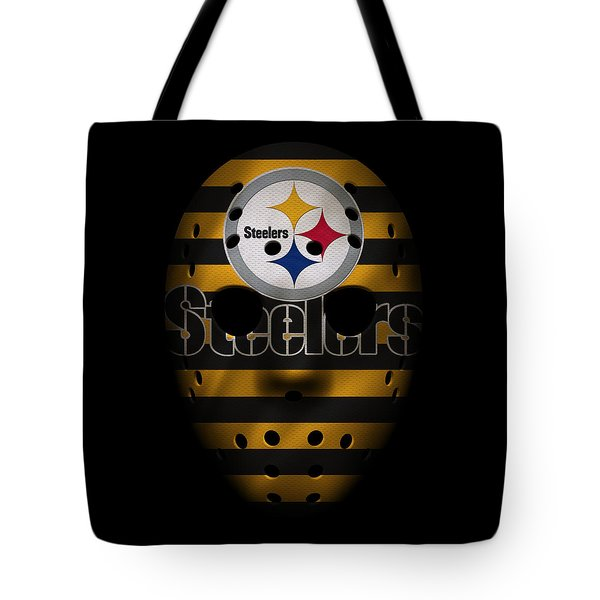 Steelers War Mask 2 Tote Bag