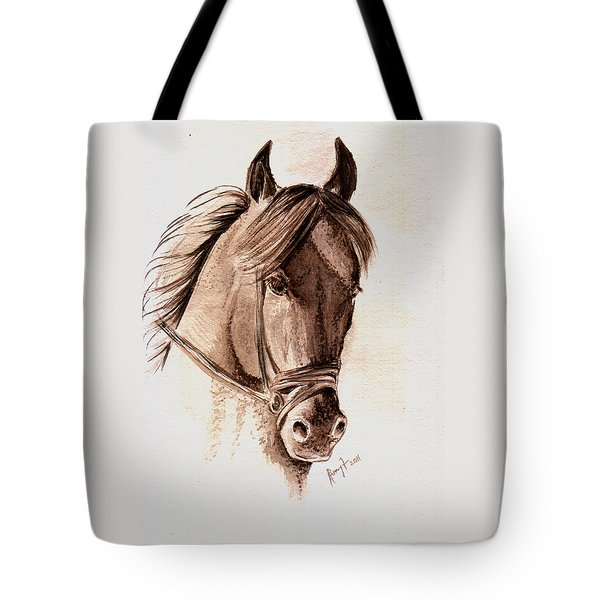 Steely Black Stallion Tote Bag by Remy Francis