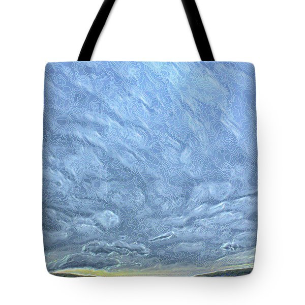 Steely Blue Sky Tote Bag