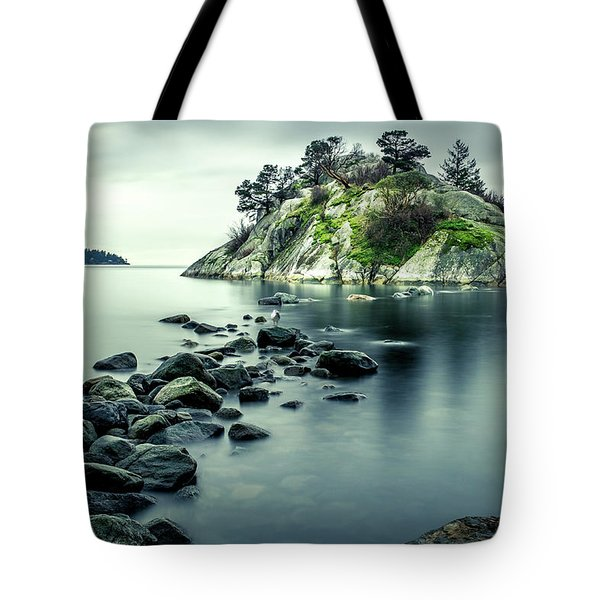 Steely Day At Whytecliff Tote Bag