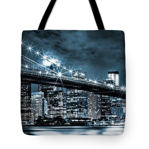Steely Skyline Tote Bag