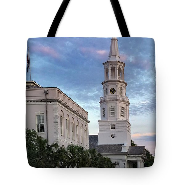 Steeple At Dusk Tote Bag