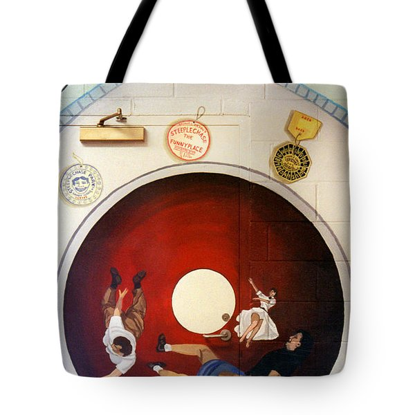 Steeple Chase Funny Place Tote Bag by Bonnie Siracusa