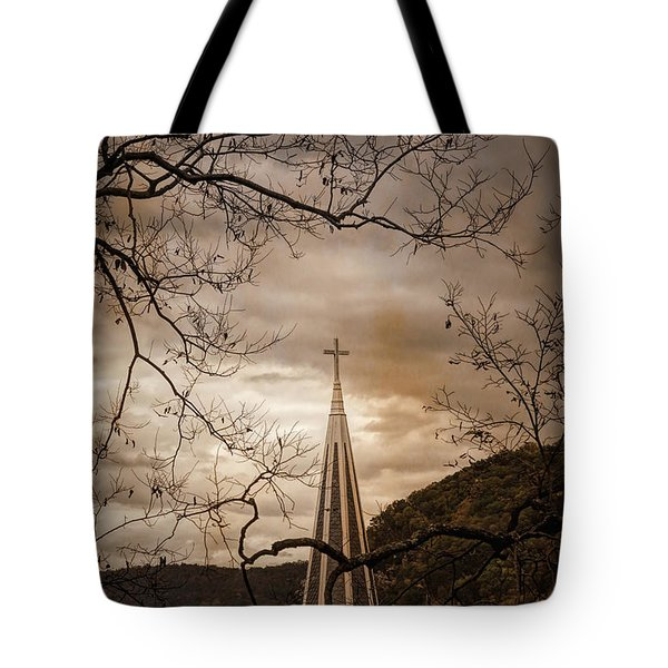 Steeple Of Time Tote Bag