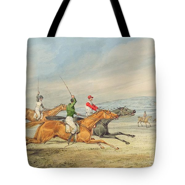Steeplechasing Tote Bag by Henry Thomas Alken