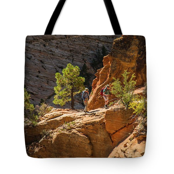 Steeply Up The Canyon Tote Bag