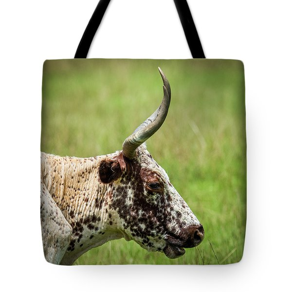 Tote Bag featuring the photograph Steer Portrait by Paul Freidlund
