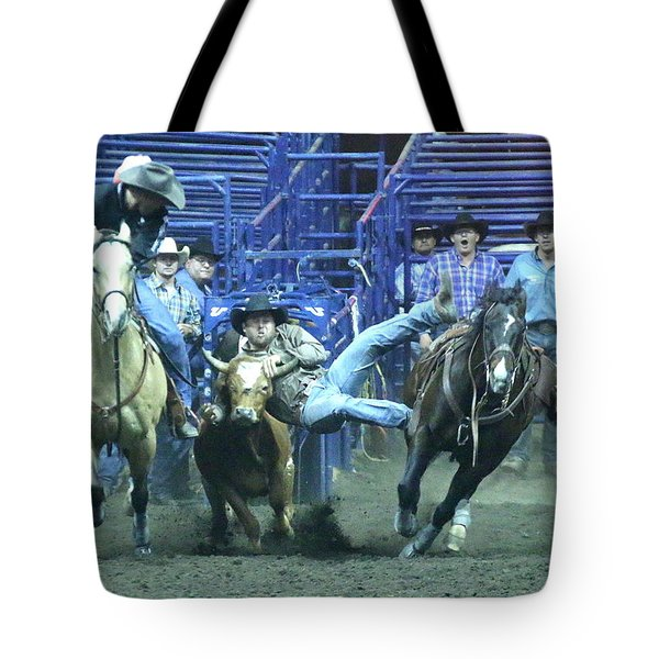Steer Roping At The Grand National Rodeo Tote Bag