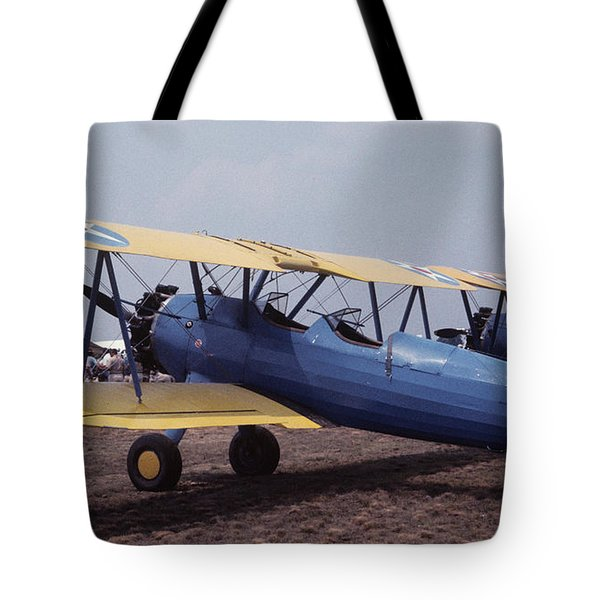 Tote Bag featuring the photograph Steerman by Donald Paczynski