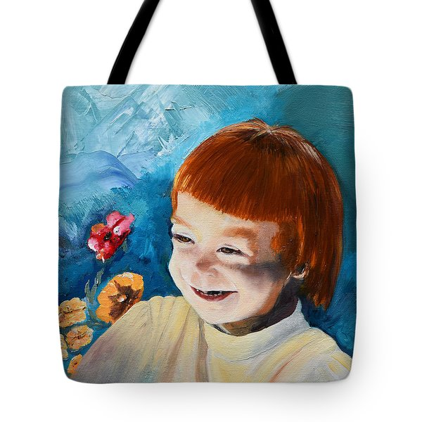 Stefi- My Trip To Holland - Red Headed Angel Tote Bag