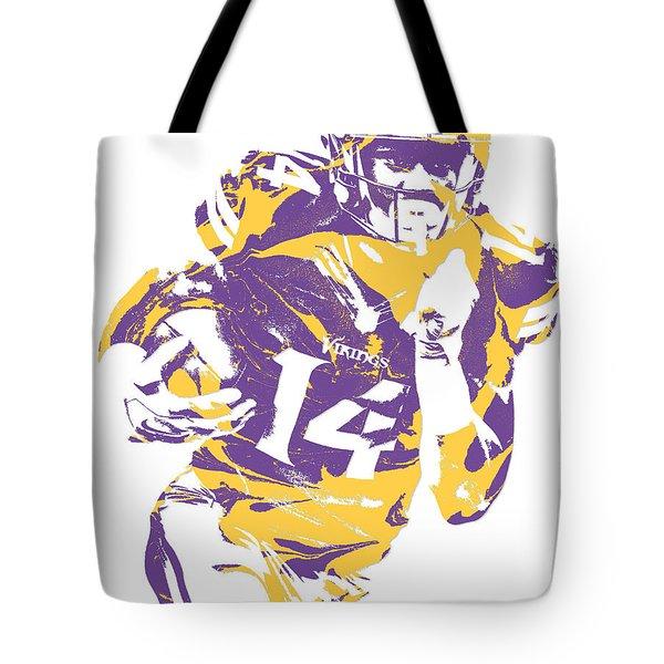 Stefon Diggs Minnesota Vikings Pixel Art 2 Tote Bag