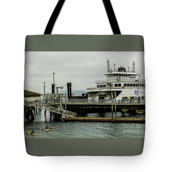 Steilacoom Ferry,washington State Tote Bag