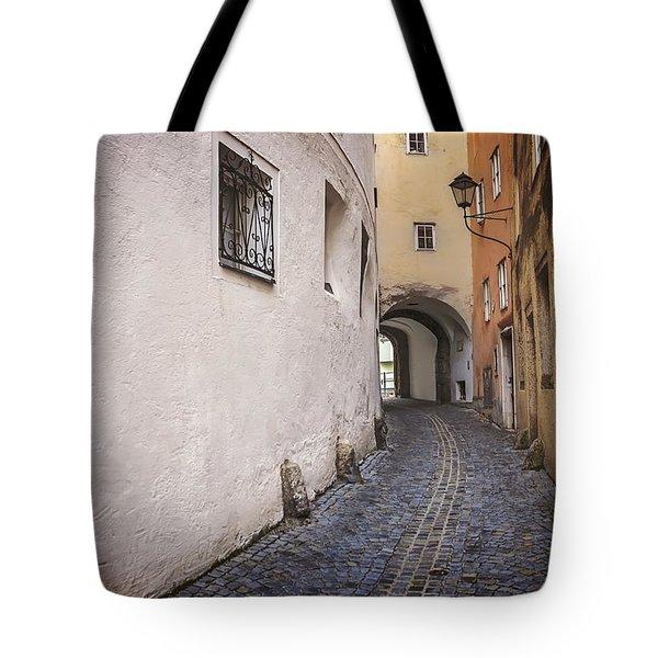 Steingasse Salzburg Tote Bag by Carol Japp