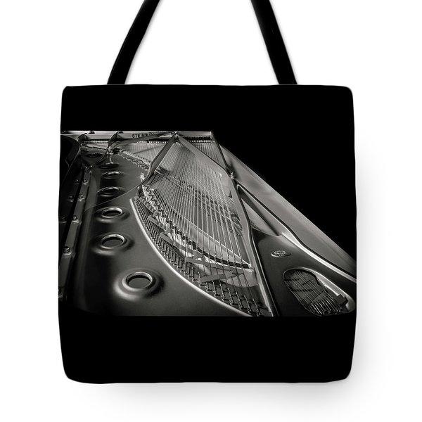 Steinway Guts Bw Tote Bag
