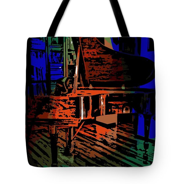 Steinway Piano Tote Bag by George Pedro