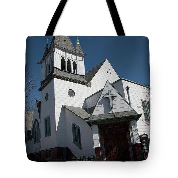 Steinwy Reformed Church Steinway Reformed Church Astoria, N.y. Tote Bag