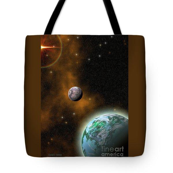 Stellar Smoke Ring Tote Bag by Corey Ford