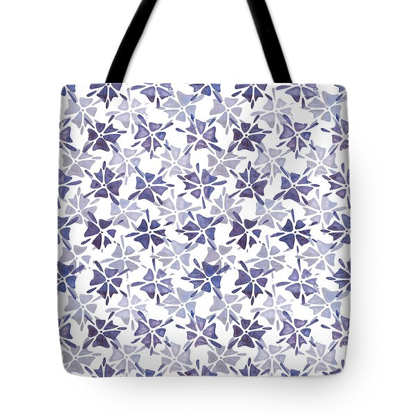 Stencilled Floral Tote Bag