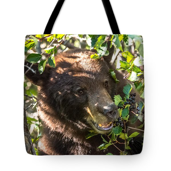 Tote Bag featuring the photograph Step Away From The Berries by Yeates Photography