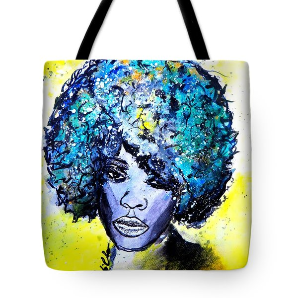 Tote Bag featuring the painting Stephanie by Tarra Louis-Charles