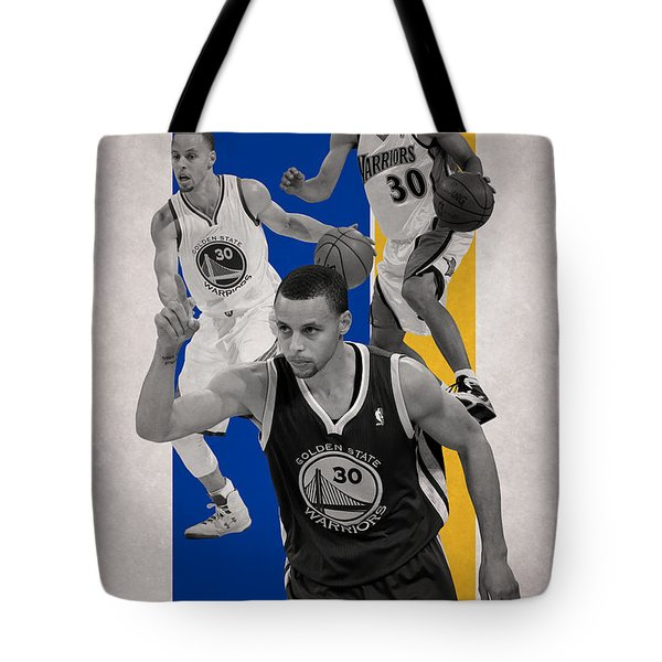 Stephen Curry Golden State Warriors Tote Bag by Joe Hamilton