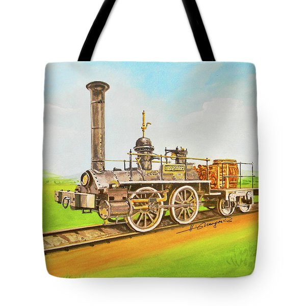Steam Engine Mississippi Tote Bag